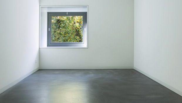 Onzichtbare plinten betonvloer