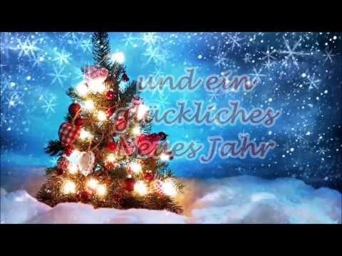"""""""Frohe Weihnachten"""" und ein """"glückliches Neues Jahr"""" – Weihnachts- Neujahrsgrüße - YouTube"""