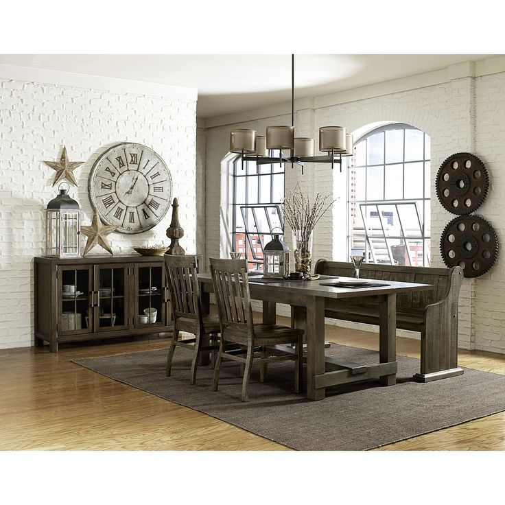 Magnussen Karlin Wood 4 Piece Rectangular Dining Set With Bench
