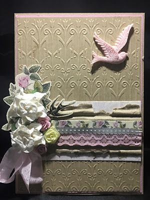 Artdeco Creations Brands: Trellis Embossed Card by Tracey Cooley