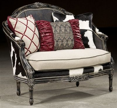 Rodeo chic settee, Luxury fine home furnishings and high quality furniture for any home decor