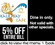 Booking Coupon - Kalk Bay Cafe, Cape Town