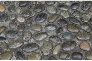 How To Cover An Outside Walkway With Pebbles And Adhesive