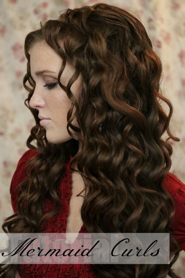 I think this looks more natural. The Freckled Fox - a Hairstyle Blog: Holiday Hair Week - Tutorial #4: Mermaid Curls