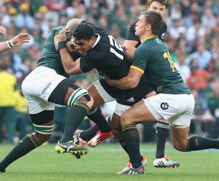 All Blacks' Malakai Fekitoa is halted in his tracks
