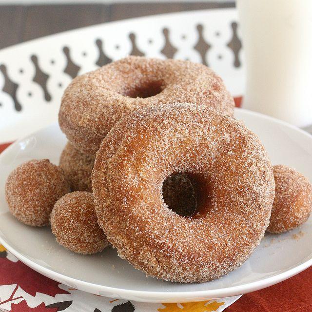 Cinnamon-Sugar Pumpkin Doughnuts by Tracey's Culinary Adventures, via Flickr