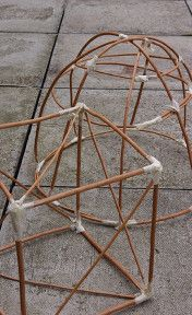 willow basic structures (2) soak in water to soften then they harden once they have been  held together with tape
