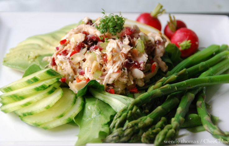 Tarragon Chicken Salad & Asparagus-15