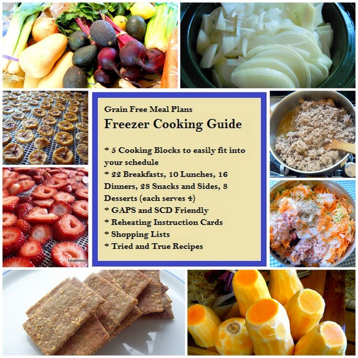 GAPS Freezer Cooking Guide for Bulk Cooking...want to get this sometime