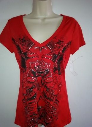 Buy my item on #vinted http://www.vinted.com/womens-clothing/t-shirts/20466334-americana-red-printed-size-large-t-shirt