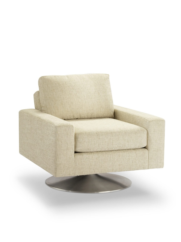 Palos Verdes Swivel Chair - Gilt HomeVerde Swivel, Sitting Pretty, Warby Parker, Swivel Chairs, Living Room, Palo Verde, Fantastic Decor