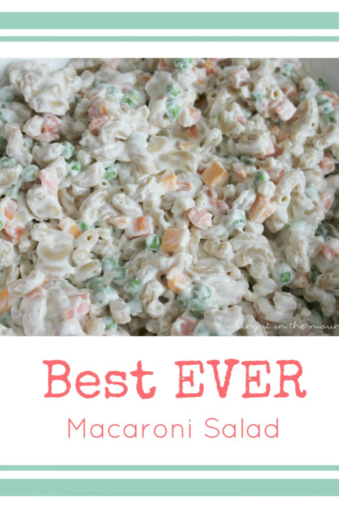 ... Pasta salad on Pinterest   Crab Pasta Salad, Best Macaroni Salad and