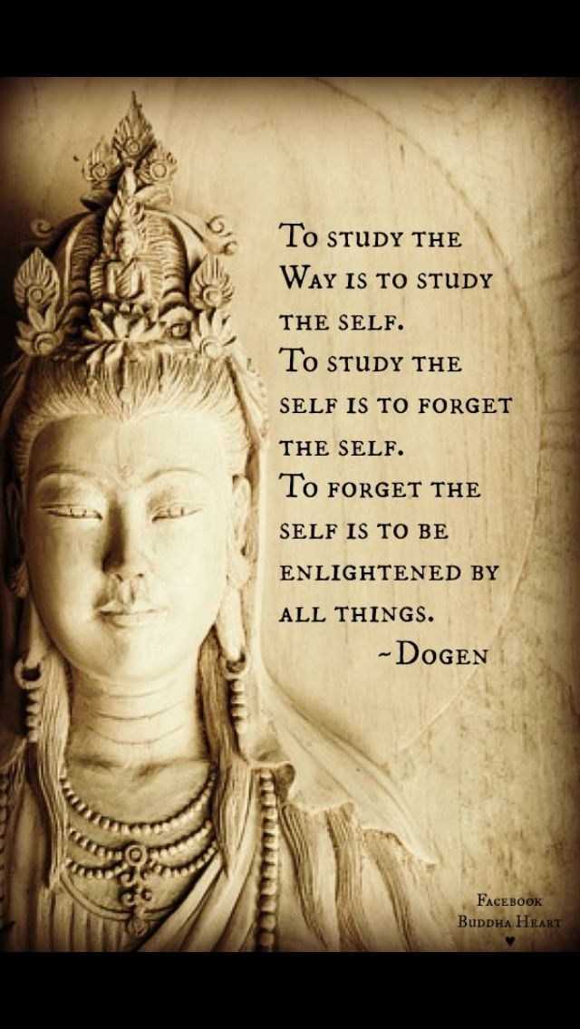 forget the self- dogen | Messages | Quotes, Buddha quote ...