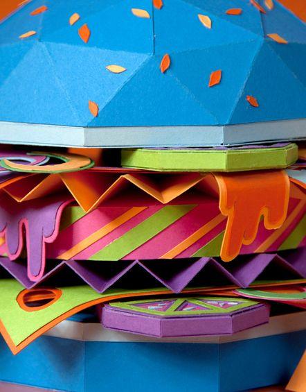 love the rich colours..it's like a multicoloured cardboard sandwich :)