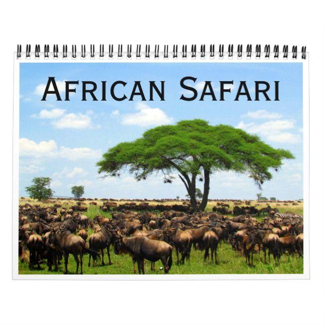 African Safari 2021 Calendar Zazzle Com African Safari Safari Serengeti National Park
