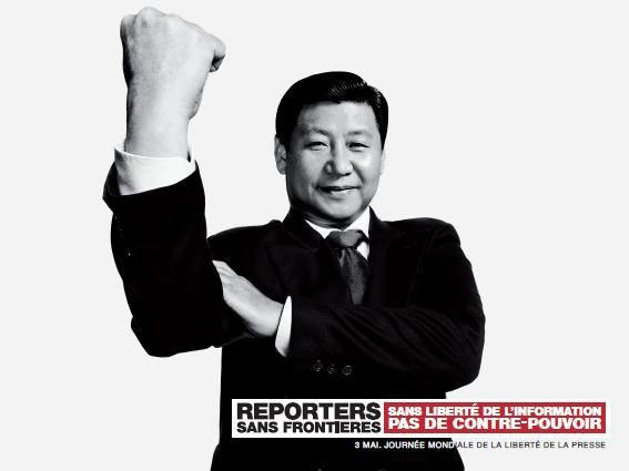 #advertising | Reporters Sans Frontières / Reporters Without Borders - Xi Jinping