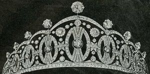 Now owned by Princess Astrid of Norway, the  Vasa Diamond Tiara was given by the city of Stockholm to her mother, Princess Märtha of Sweden, on the occasion of her marriage to Crown Prince Olav of Norway in 1929.