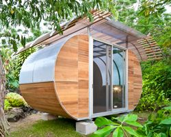 blue forest: eco-perchCompact Living, Architects, Tiny House, Work Spaces, Backyards Retreat, House Arc, Architecture, Small Spaces, Housearc