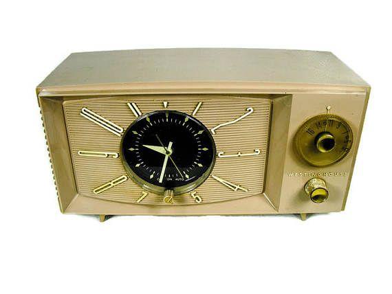 Vintage Westinghouse Clock Radio  Atomic Clock Radio Retro