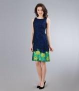 Rochie din brocart cu cordon
