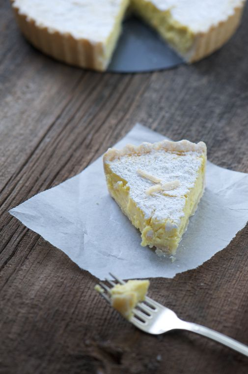 Creamy Meyer Lemon, Bergamot Orange and Fresh Ricotta Tart