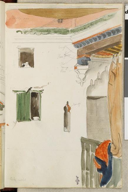 Eugène DELACROIX, Album de voyage au Maroc, Espagne, Algérie, 1832, Musée Condé, Chantilly, (C) RMN-Grand Palais (domaine de Chantilly) / René-Gabriel Ojéda.