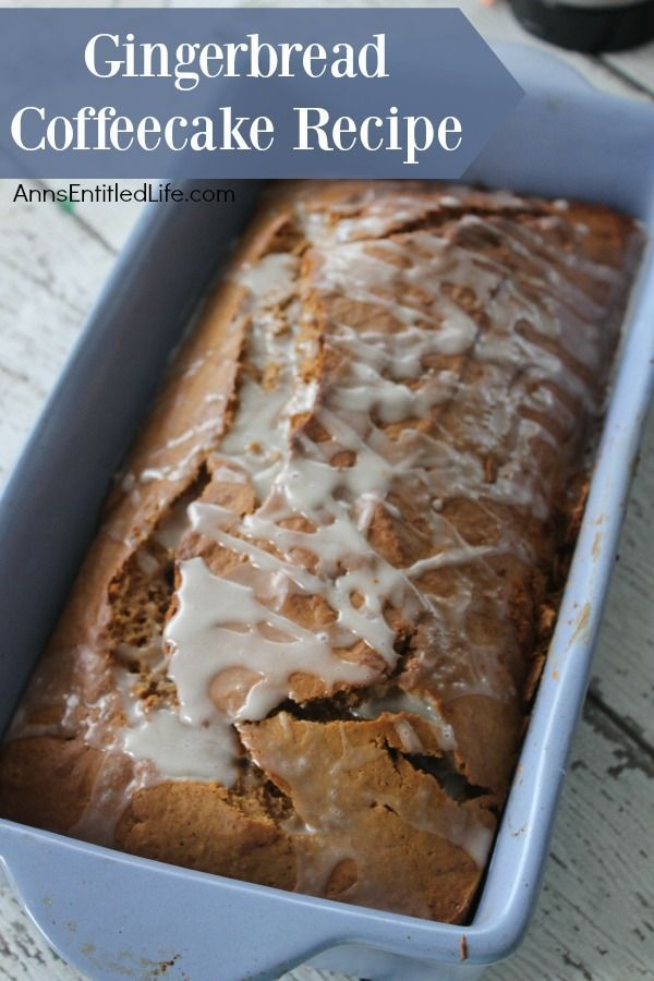 Gingerbread Coffeecake Recipe. This Gingerbread Coffee Cake topped with a ginger glaze icing is a great way to cap off a winter meal or start the day with a good cup of coffee. The cake is lightly sweetened and has a delicious spiciness to it; an easy way to get your gingerbread fix!
