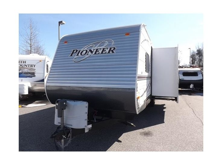 Get most affordable deals on Cheap Used 2014 #Heartland Pioneer TB27 #Travel_trailer by Camping World RV Sales - Statesville for $19988 in Statesville, NC, USA. This Used 2014 Travel trailer loaded features with 1 Slide Out, Battery, Booth Dinette, Center Kitchen, Center Living Room, Double Bunks, Front Queen Bed, Grab Handle, Microwave, Rear Corner Bath, RVIA Seal and many more. If you iterested to see more information, then click to log on At: http://goo.gl/S5SWfm