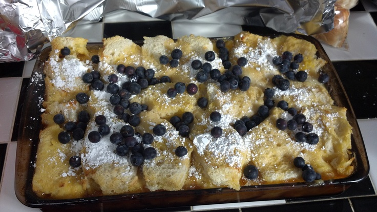 ... recipe- Lemon and blueberry cream cheese stuffed baked french toast