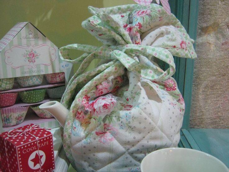 Greengate copriteiera tea cosy amelie white