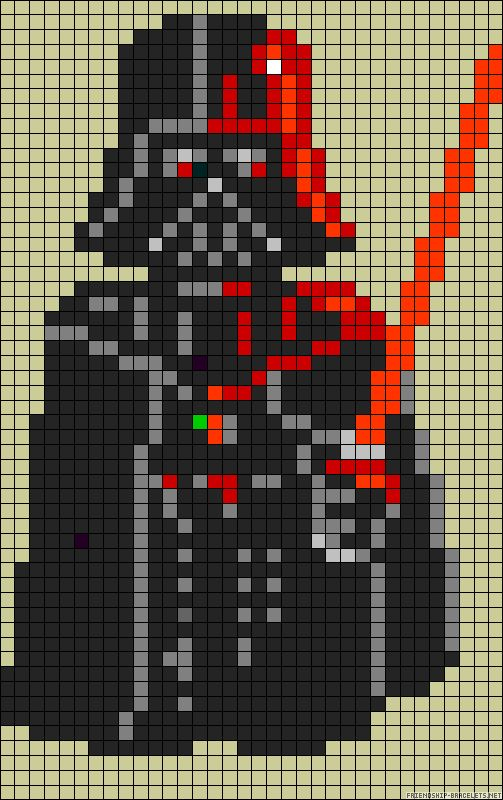"""Luke, I am your father"" ** LOL ** Star Wars Darth Vader perler bead pattern can be adapted for x-stitch"