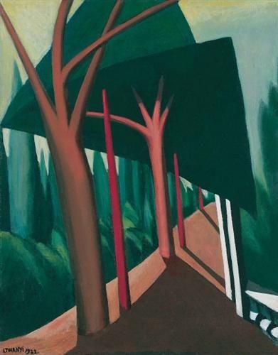 Three Trees - Lajos Tihanyi, 1922