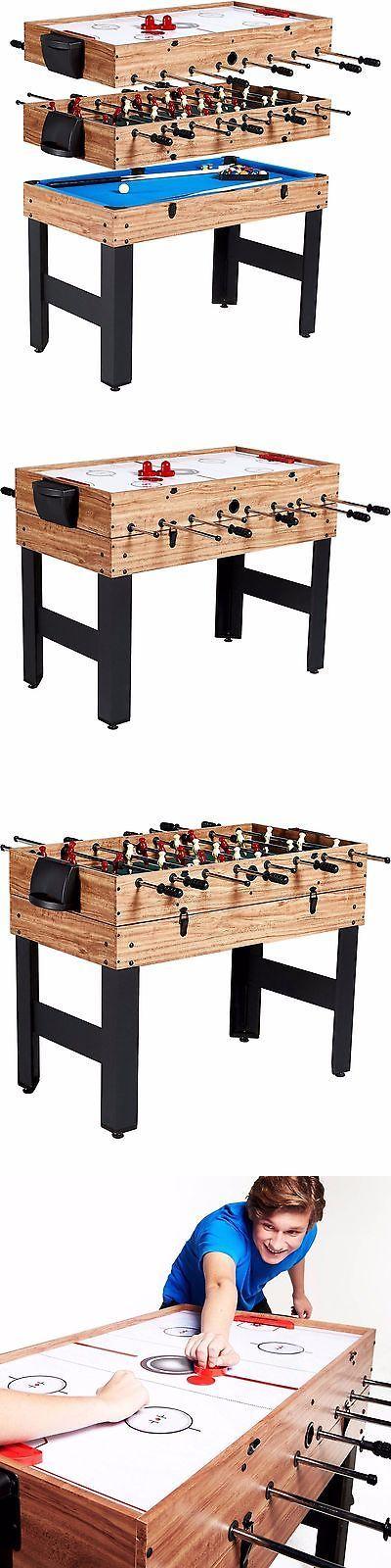 Foosball 36276: Multi Game Table Combo 3 In 1 Pool Billiards Air Hockey Foosball Soccer Convert BUY IT NOW ONLY: $103.95