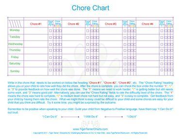 9 best ages 5 to 12 behavior chore homework and reward charts
