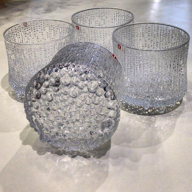 After diner drinks in these amazing 60s #deadstock #ittala glasses by #tapiowirkkala #lovelystuff #newarrivals #denim #indigo #style