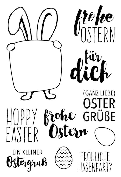 HOPPY EASTER Transparent Clear Silicone Stamp / Seal for DIY scrapbooking / photo album   – Handlettering & bullet journal