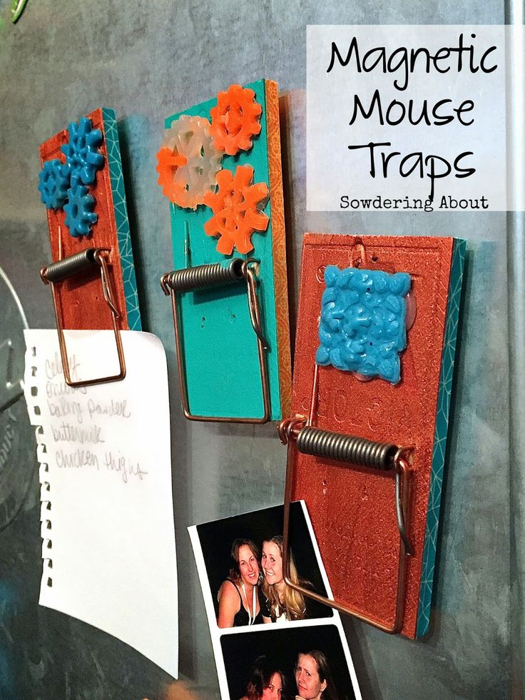 Sowdering About:DIY  Mouse trap magnets