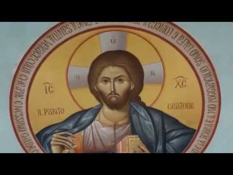 "Byzantine Iconography ""Christ Pantocrator""Wallpainting"