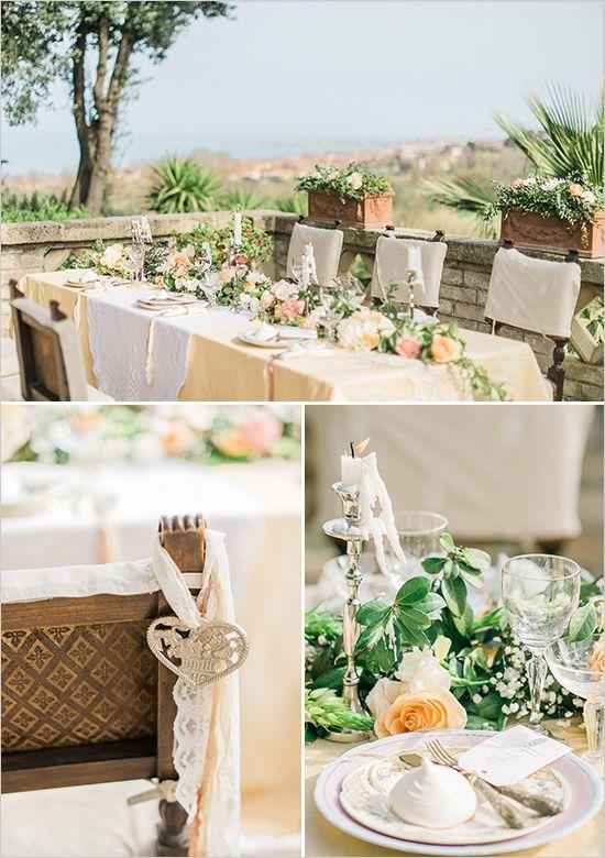 Outdoor reception table ideas weddingchicks wedding for Table 6 handbook 44
