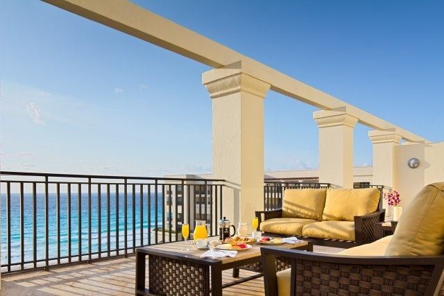 A suite balcony at the CasaMagna Marriott Cancun Resort