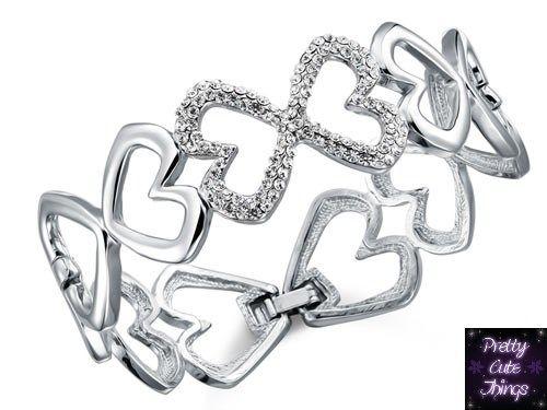 Bridesmaid Heart Bangle with Austrian Crystal XB140