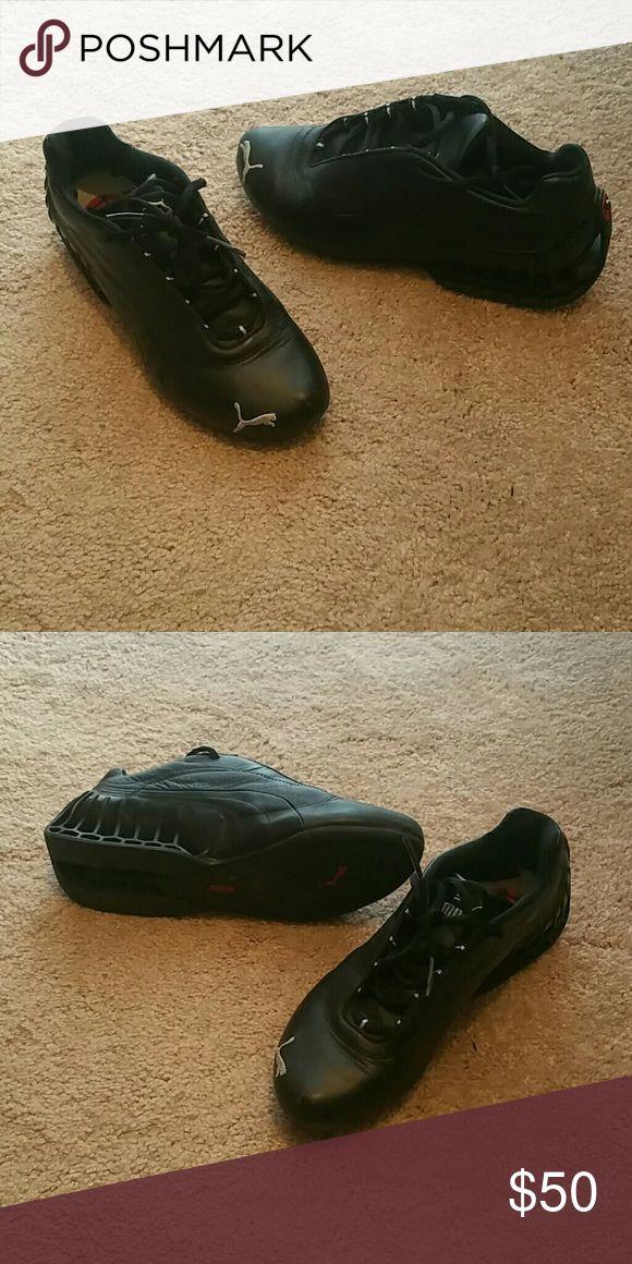 Black pumas Womens size 7 black puma shoes Shoes Athletic Shoes
