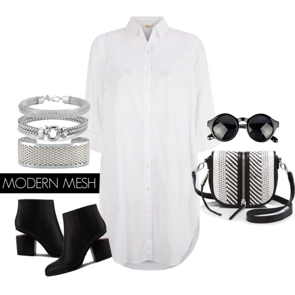 Modern Mesh by bluenile on Polyvore featuring Monsoon, Alexander Wang, She + Lo, Blue Nile and modern: