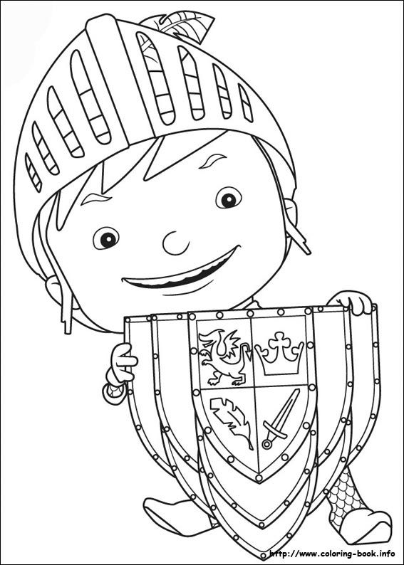 mike the knight coloring picture  fairy coloring pages
