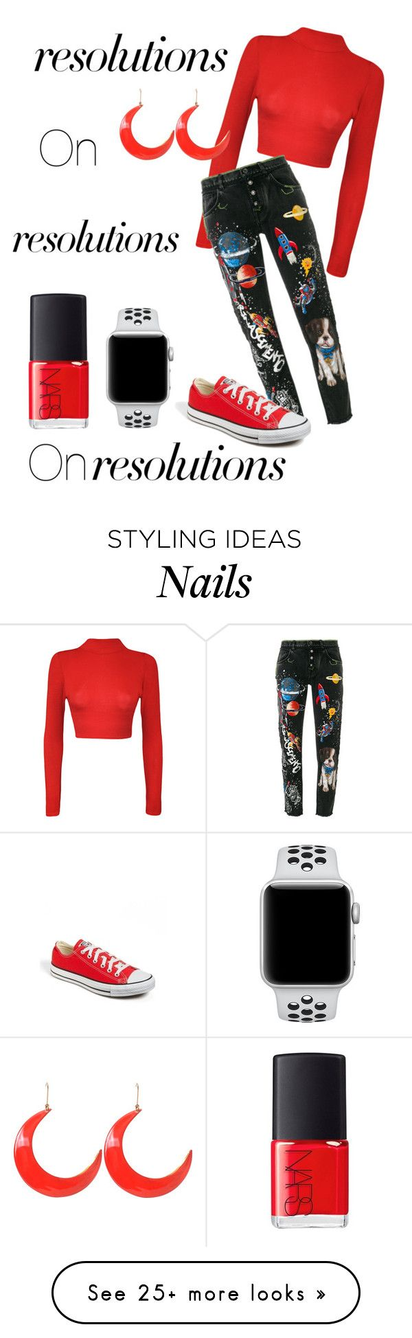 """#PolyPresents: New Year's Resolutions"" by emily-nicole16 on Polyvore featuring WearAll, Dolce&Gabbana, Converse, NIKE, STELLA McCARTNEY, NARS Cosmetics, contestentry and polyPresents"