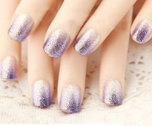 2015 French unghie finte bride short 3D fake full cover press on false nails decorated 24 pcs/set unhas faux ongles acrylic tips(China (Mainland))