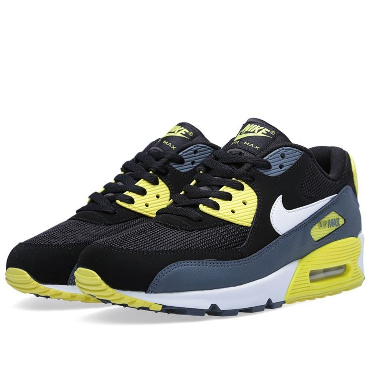 Nike Air Max 90 black white essential sound of the yellow man HOT SALE! HOT