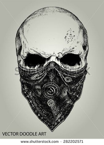 Skull with Bandana Gangster Tattoo Drawings | 17 Best ideas about Bandana Tattoo on Pinterest | Gangster girl ...