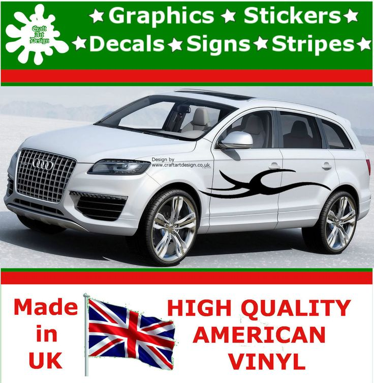 2x large car side strips flame graphics 4x4 decal vinyl stickers van caravan t28