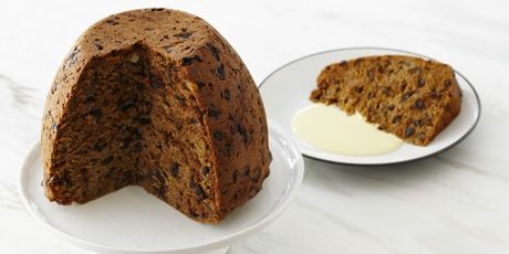 Grand Plum Pudding - Studded with fruits, nuts, and spices, this plum putting isn't kidding - it really IS grand. Find out for yourself! Grand Plum Pudding recip... #plumpudding